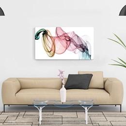 Quadro Decorativo em Tela Canvas Abstrato Linhas e Curvas 60x90cm