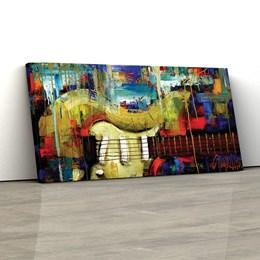 Quadro Decorativo Guitarra Abstrata 40x80cm  Para Sala