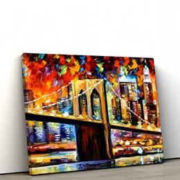 Quadro Decorativo Ponte do Brooklyn 60x90cm Sala ou Quarto