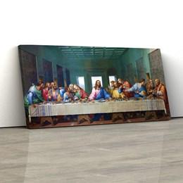 Quadro Decorativo Santa Ceia 150x70cm Sala ou Quarto