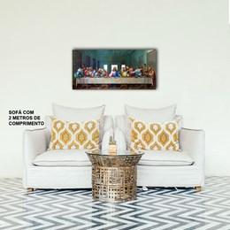 Quadro Decorativo Santa Ceia 40x80cm Sala ou Quarto