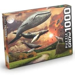 Quebra Cabeça Flying Whales Baleias Voadoras 1000 peças Grow