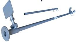 Rabeta de Barco Curta 150cm Para Motor 2T/4T - Branco Motores