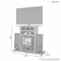 Rack Cipó para TV até 32 Polegadas Cacau - JCM Móveis