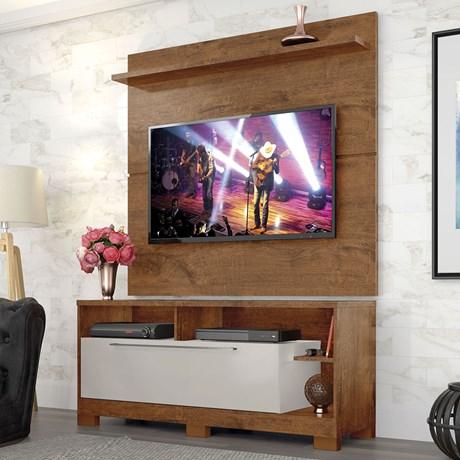 Rack Com Painel Casuale para TV até 49 Polegadas Natural - Zanzine