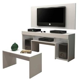 Rack com Painel para TV e Mesa de Centro Sparta - Mavaular Branco