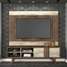 Rack com Painel para TV  Paraty Cafe/rustico - Permobili