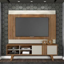 Rack com Painel para TV Paraty Savana/off White - Permobili