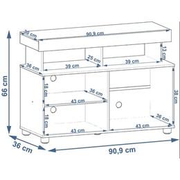 Rack para TV até 32 polegadas Slim - Branco