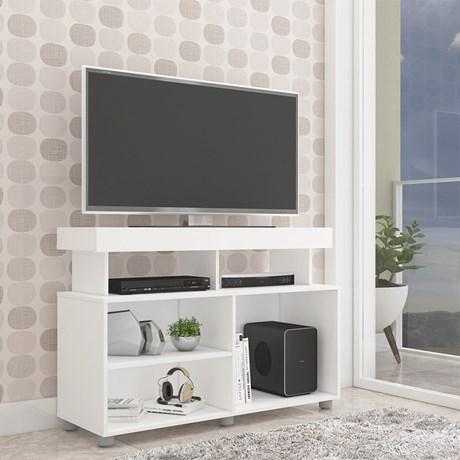 Rack para TV até 55 polegadas Slim - Branco