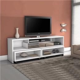 Rack para TV com 1 Gaveta e Mesa Móvel Tróia - Mavaular Branco