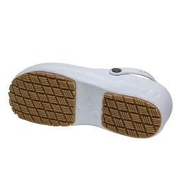 Sandália Branca Antiderrapante de Borracha EVA N37  - Marluvas