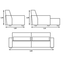 Sofa Retratil Reclinável Carandai - Triunfo