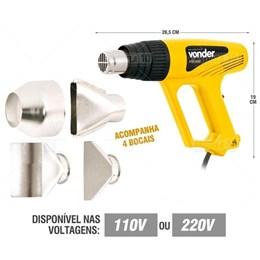 Soprador Termico Stv2000N  3 Estagios Com 4 Bocais-Vonder