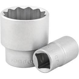 """Soquete estriado com encaixe de 1/2"""", 14 mm, - Vonder"""