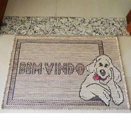 Tapete Sisal Look Bem Vindo Dog 40 X 60cm - Rayza Tapetes