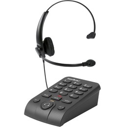 Telefone Headset Profissional Telemarketing Intelbras Hsb50