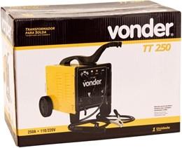 TRANSFORMADOR DE SOLDA 250 A 127/220 V TT-250 VONDER